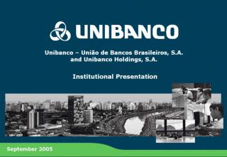 Overview of Unibanco