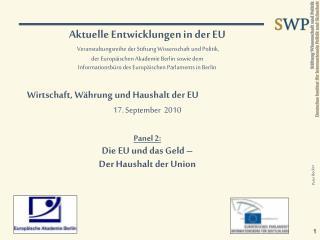 Grundlagen der EU-Finanzverfassung