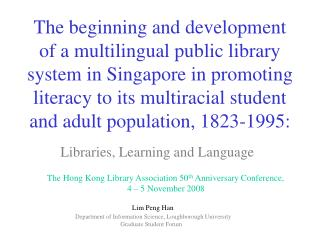 Libraries, Learning and Language
