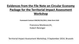 Framework  Contract  CDR/DE/191/2011 , Order form 5163 Francesca  Montevecchi , Hubert Reisinger