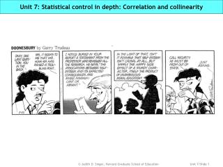 Unit 7: Statistical control in depth: Correlation and collinearity
