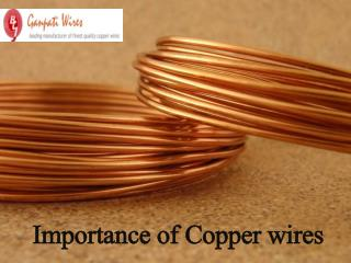 Importance of Copper wires