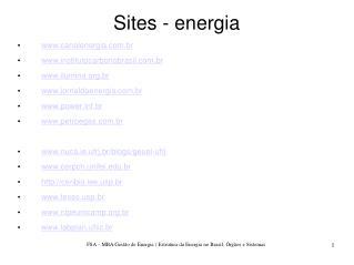 Sites - energia