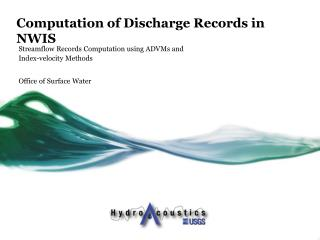 Computation of Discharge Records in NWIS