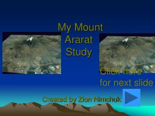 My Mount  Ararat  Study