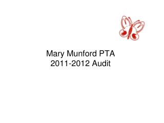 Mary Munford PTA 2011-2012 Audit