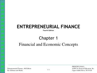 ENTREPRENEURIAL FINANCE Fourth Edition