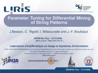 Parameter Tuning for Differential Mining of String Patterns