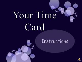 Your Time Card