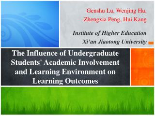 Genshu Lu, Wenjing Hu,  Zhengxia Peng, Hui Kang Institute of Higher Education