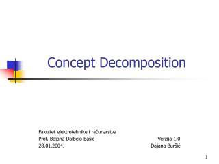 Concept Decomposition