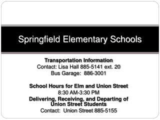 Springfield Elementary Schools