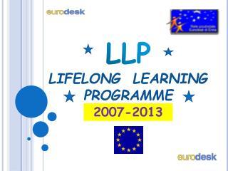 LLP LIFELONG  LEARNING PROGRAMME