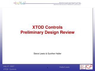 XTOD Controls Preliminary Design Review