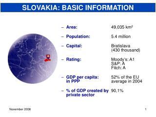 SLOVAKIA: BASIC INFORMATION