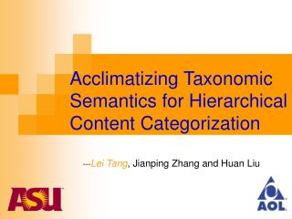 Acclimatizing Taxonomic Semantics for Hierarchical Content Categorization