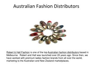 Australian fashion distributors