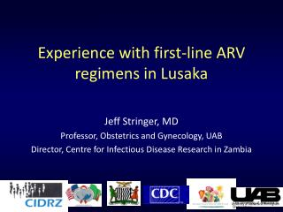 Experience with first-line ARV regimens in Lusaka