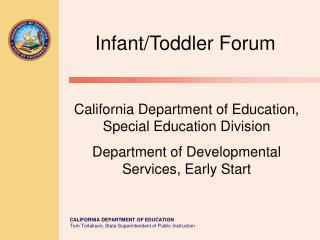 Infant/Toddler Forum