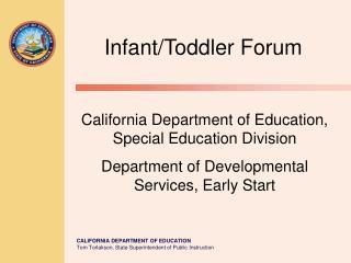 Infant/Toddler Forum