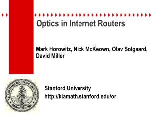 Optics in Internet Routers