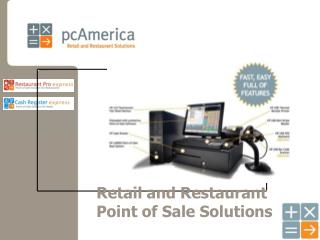 Retail and Restaurant Point of Sale Solutions