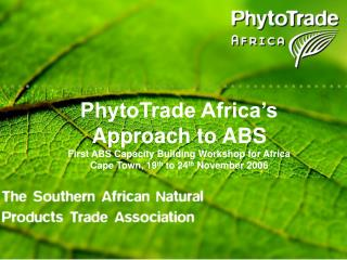 Southern African Natural Products Trade Association