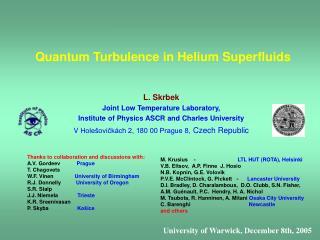 Quantum Turbulence in Helium Superfluids