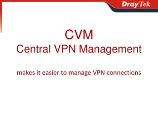 CVM Central VPN Management