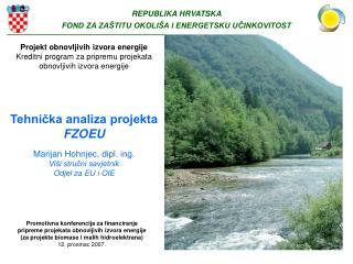 Promotivna konferencija za financiranje  pripreme projekata obnovljivih izvora energije