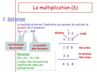 La multiplication (6)