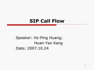 SIP Call Flow