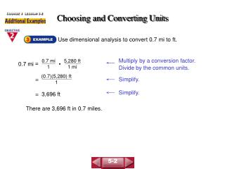 Choosing and Converting Units