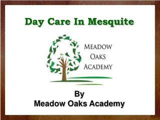 Day Care In Mesquite from Meadowoaksacademy