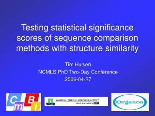 Testing statistical significance scores of sequence comparison methods with structure similarity