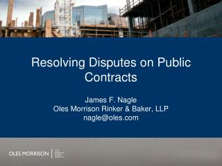 Resolving Disputes on Public Contracts