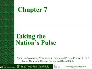 Taking the  Nation's Pulse