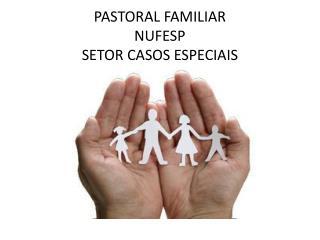 PASTORAL FAMILIAR  NUFESP  SETOR CASOS ESPECIAIS