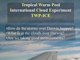 Tropical Warm Pool  International Cloud Experiment TWP-ICE