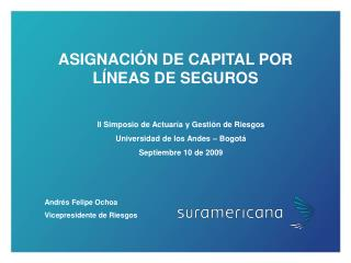 ASIGNACIÓN DE CAPITAL POR  LÍNEAS DE SEGUROS