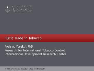 Illicit Trade in Tobacco