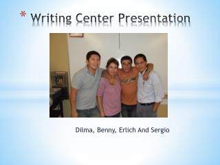 Writing Center Presentation