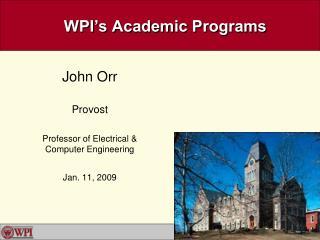 WPI's Academic Programs