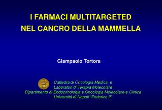 I FARMACI MULTITARGETED  NEL CANCRO DELLA MAMMELLA