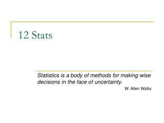 12 Stats
