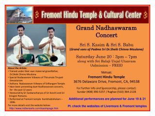 Grand Nadhaswaram Concert Sri S. Kasim & Sri S. Babu