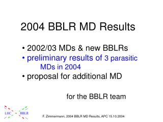 2004 BBLR MD Results