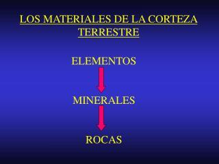 LOS MATERIALES DE LA CORTEZA TERRESTRE