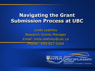 Navigating the Grant Submission Process at UBC