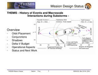 Mission Design Status